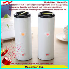 Stainless steel 380ml sensing cup funny advertisement of new product