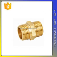 heavy brass elbow with compression ends, sand blasted and raw surface LB-P9105
