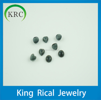 remarkable handsome synthetic black round cabochonand heart shape cat's eyes loose gemstones for decoration