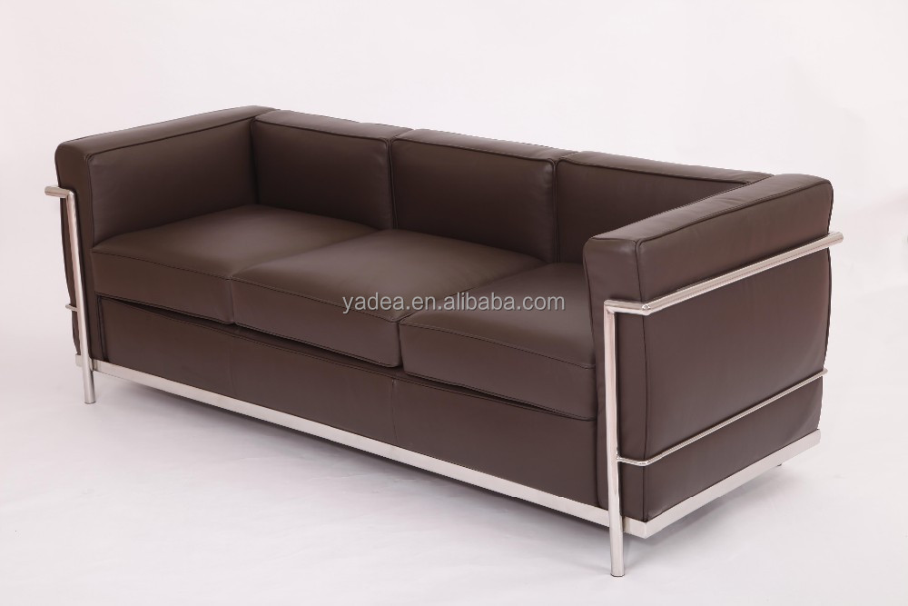 Home living room furniture le corbusier sofa replica dark for Le corbusier sofa replica