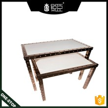 stainless steel display table with table