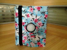 Wildflower 360 Degree Rotating PU Leather Case Cover Shell With Stand for iPad Mini(ocean blue)