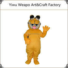 2015 Newest Design Cheap Kids Party Cosplay Super Cute & Funny Garfield Cartoon Mascot Costume