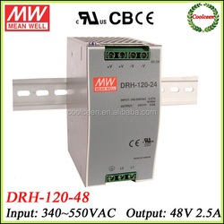 Meanwell DRH-120-48 switching din rail smps power supplies