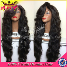 2015 promotion 100% remy brazilian virgin human hair full lace wigs wholesale