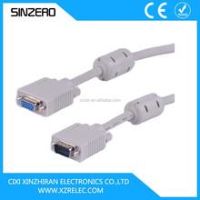 vga cable/vga cable max resolution XZRV005/vga cable 15m