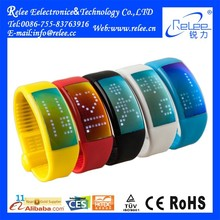 Wearable Android Motion Activated Led Bracelet Silicon Smart Wristband Watch with 3D Pedometer