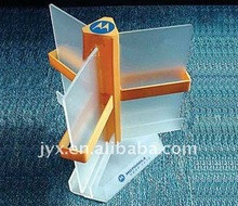 rotated acrylic menu card tabletop display