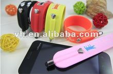 2012 new design slap bracelet shape touch screen pen