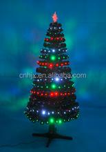 Unique Rotating Prelit Led Light Christmas Tree, Remote Control Fiber Optic Tree
