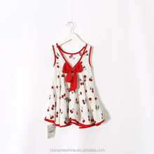 MS64329C new style cherry prints wholesale summer little girls dress