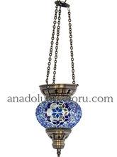 Pendant Glass, Mosaic Lamps, Hanging, Blue Glass, Lighting, Summer House Decorating Ideas