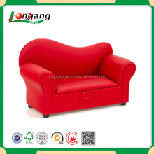 2015 Hot sale leather Pink princess and prince child sofa