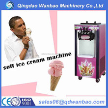 high quality three color real fruit ice cream machine with imported compressor