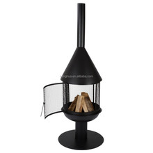 Black Garden Chiminea Outdoor Iron Fireplace