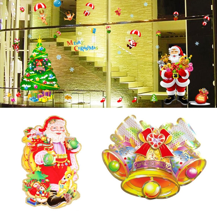 2015 wall sticker for christmas 3d christmas window for 3d snowman door decoration