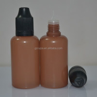 2015 dropper bottle small plastic containers with pp cap for eliquid e-cig