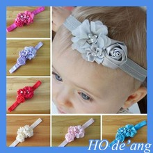 HOGIFT 2015 Headbands Rose Flower Crystal Baby Girl Children Accessories