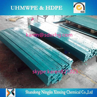 Plastic green conveyor wear strip/hard plastic strip/polyethylene wear strip
