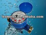 Single jet liquid sealed water meter