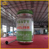 LED Lighting Latest Design Custom Inflatable Can, Inflatable Jar Replica For Advertising