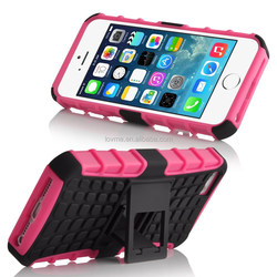 For iphone 5s /6/6 plus Heavy Duty Hybrid Rugged Rubber Armor Stand Phone Cover Case with Kickstand