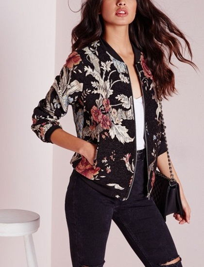 mondiale vente chaude haute qualit vintage v tements femme brod floral motoecycle bomber veste. Black Bedroom Furniture Sets. Home Design Ideas