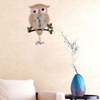2015 Direct Selling wall decor clock Top Fashion Night Owl style Resin Large kids room geometric multicolor Wall Clock