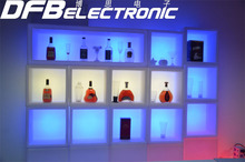 colorful led commercial wine rack