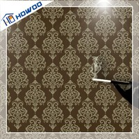 Howoo pvc flower patterns red and black wallpaper