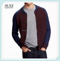 Heavy Knit Men's Baseball Bulk Male Cardigan Buttom Up Sweater China 2015 Men