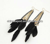 2012 jewelry feather earring supplies for women's accessories