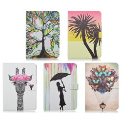 hybrid animal pattern leather tpu case cover for ipad mini 4, for ipad mini4 folio stand leather case