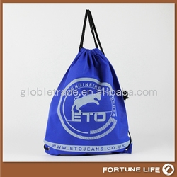 Friendly 80gsm Non Woven Fabric Drawstring Bags with Carry FLCH-03032 guangzhou supplier