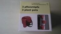 3PCS/SET Unique Gutter Downspout Garden Flower Pot Plant Planter Container Set Plant Pots For Placing Around Drainpipes