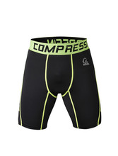 Nylon/Lycra Men's blank exercise compression crossfit mma shorts