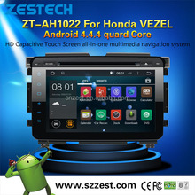 2015 NEW HOT SELLING car dvd gps player for Honda VEZEL Android 4.4.4 up to 5.1 OBDII 1.6GHz MCU 3G WiFI