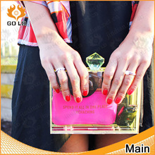 high quality acrylic clutch ,transparent acrylic boxes with lids
