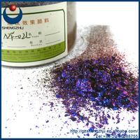 Chameleon pearlescent powder for Synthetic Leather NF-02L, three Colours Shifting Pigments pigments Blue |Purple |Red