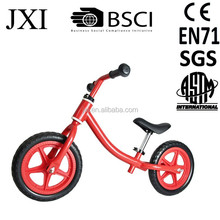 2015 fashion brilliant red color mini saddle design steel kids learn balance bike no-pedal balance bike