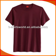 Simple style O-neck t-shirts in solid color