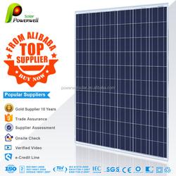 Powerwell Solar With TUV,CE,SGS,CEC,IEC,ISO,OHSAS,CHUBB,INMETRO Standard Top Supplier From Alibaba Solar panel 250 watt