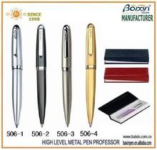 wholesale metal twist metal pen/advertising ball pen/ short metal uni ball pen 506
