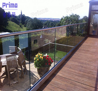 Stainless Steel Outdoor Glass Railing U Channel