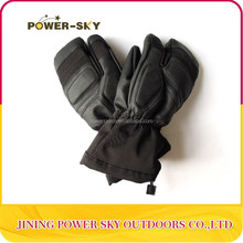 Personalized thinsulate xxl winter ski gloves 3 finger