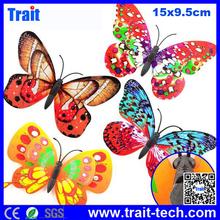 Paypal Aceptado! 4 PCS 15x9.5cm Pequeña Juequete decoración, Colorida Mariposa Con imán