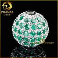 925 sterling silver cz round 10mm emerald cubic zirconia ball
