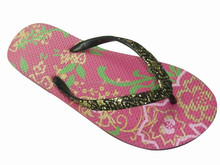 lady PE flip flop with nice printing