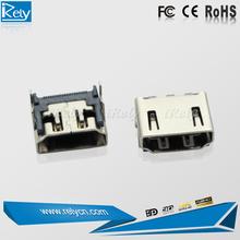 female socket connector HDMI v.1.4 adapter soldering