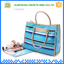 Customized standard size oem production women beach leather tote